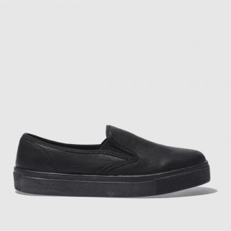 Schuh Black Awesome Slip On Mono Flat Shoes