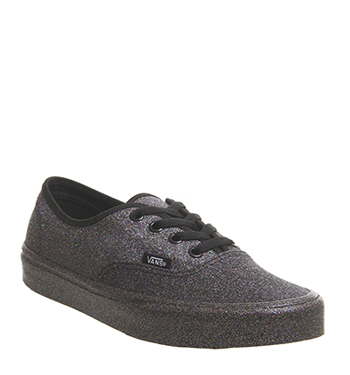 Vans Authentic BLACK BLACK RAINBOW GLITTER