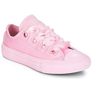 Converse Chuck Taylor All Star Big Eyelet-Slip girls's Shoes (Trainers) in Pink