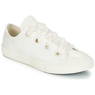 Converse Chuck Taylor All Star Big Eyelet-Slip girls's Shoes (Trainers) in White
