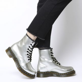 Dr. Martens Vegan 1460 8 Eye Boot PEARL CHROME PAINT METALLIC
