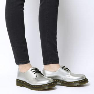 Dr. Martens Vegan 1461 3 Eye Boot PEARL CHROME PAINT METALLIC