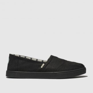 Toms Black Alpargata Cupsole Flat Shoes