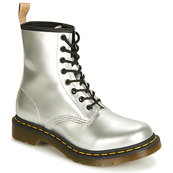 timeless design low price sale undefeated x Dr Martens 1460 Vegan women's Mid Boots in Silver