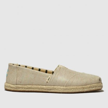 Toms Natural Alpargata Rope Sole Flat Shoes