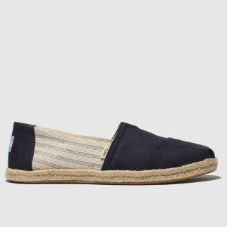 Toms Navy Alpargata Flat Shoes