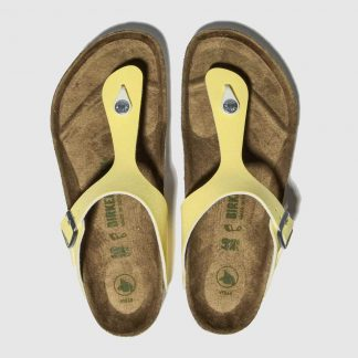 Birkenstock Yellow Gizeh Vegan Sandals