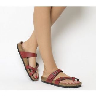 Birkenstock Mayari Cross Strap Sandal PULL UP BORDEAUX