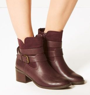 M&S Collection Buckle Strap Ankle Boots