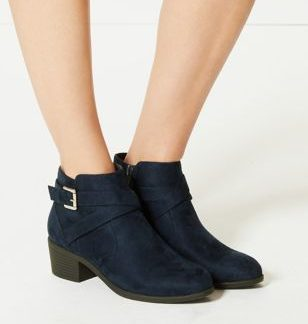 M&S Collection Side Buckle Ankle Boots