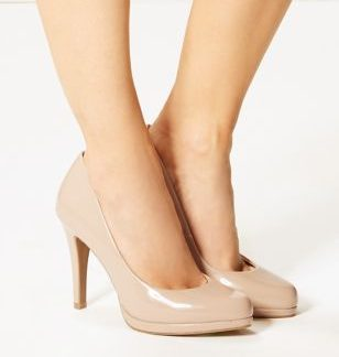 M&S Collection Stiletto Platform Patent Court Shoes