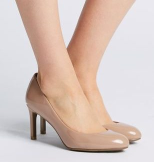 M&S Collection Wide Fit Almond Toe Court Shoes