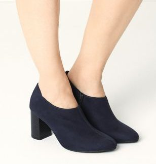The Everywear Shoe Boot Block Heel Shoe Boots with Insolia