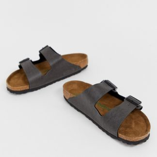 Birkenstock Vegan Arizona sandals in anthracite
