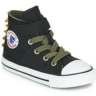 Converse CHUCK TAYLOR ALL STAR 1V DINO SPIKES CANVAS HI girls's Shoes (High-top Trainers) in Green