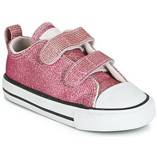 Converse CHUCK TAYLOR ALL STAR 2V SPACE STAR OX girls's Shoes (Trainers) in Pink