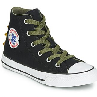 Converse CHUCK TAYLOR ALL STAR DINO SPIKES CANVAS HI girls's Shoes (High-top Trainers) in Green
