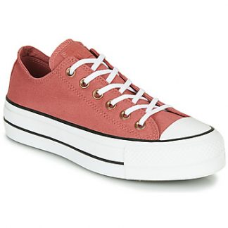 Converse CHUCK TAYLOR ALL STAR LIFT SEASONAL CANVAS OX women's Shoes (Trainers) in Pink