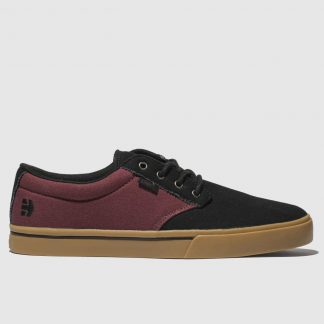 Etnies Black & Burgundy Jameson 2 Eco Trainers
