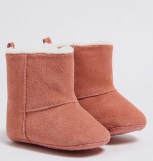 Baby Leather Sheepskin Style Boots