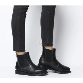 Dr. Martens Vegan Flora Chelsea Boot BLACK FELIX RUB OFF