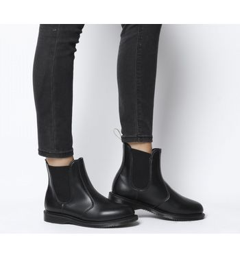 classic good texture top-rated cheap Dr. Martens Vegan Flora Chelsea Boot BLACK FELIX RUB OFF
