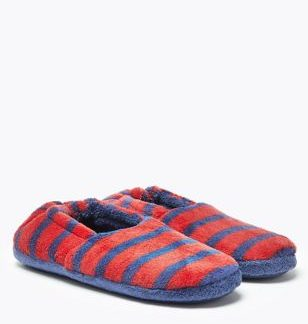 Kids' Striped Slippers (5 Small - 7 Large)