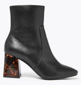 M&S Collection Flared Block Heel Ankle Boots