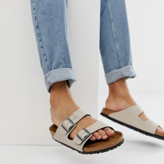 Birkenstock Vegan Arizona sandals in stone-Beige