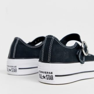 Converse Chuck Taylor Mary Jane black canvas shoes
