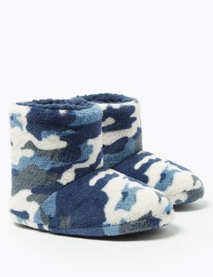 Kids' Camouflage Print Slipper Boots (5 Small - 7 Large)