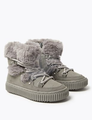 Kids' Faux Fur Snow Boots (5 Small - 12 Small)
