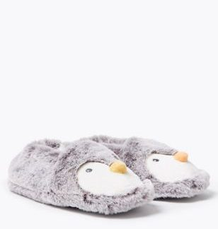Kids' Penguin Slippers (5 Small - 12 Small)