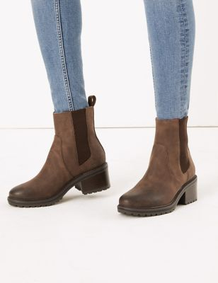 M&S Collection Block Heel Chelsea Ankle Boots