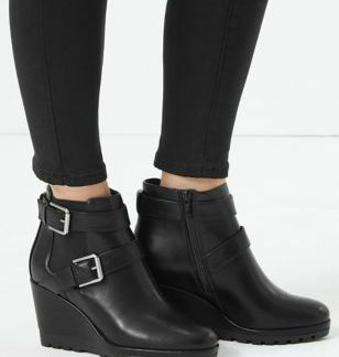 M&S Collection Buckle Wedge Ankle Boots
