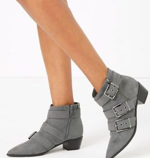 M&S Collection Multi Buckle Ankle Boots
