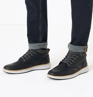 M&S Collection Padded Collar Runner Casual Boots