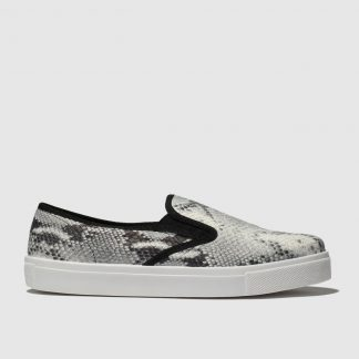 Schuh White & Black Awesome Flat Shoes