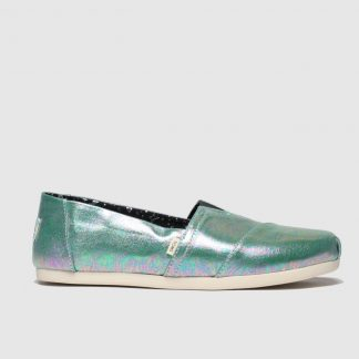 Toms Green Alpargata 3.0 Metallic Flat Shoes