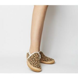 Toms India Slipper DESERT TAN LEOPARD
