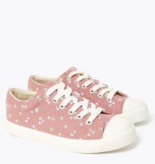 Kids' Canvas Floral Trainers (13 Small - 6 Large)