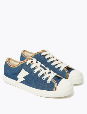 Kids' Denim Lightning Bolt Trainers (13 Small - 7 Large)