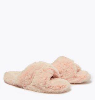 Kids' Faux Fur Slider Slippers (13 Small - 6 Large)