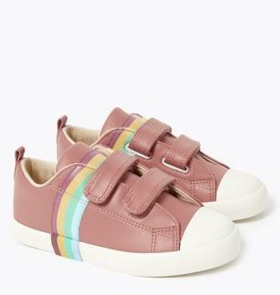 Kids' Rainbow Design Riptape Trainers (5 Small - 12 Small)