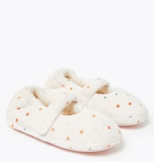 Kids' Spotted Riptape Slippers (5 Small - 12 Small)