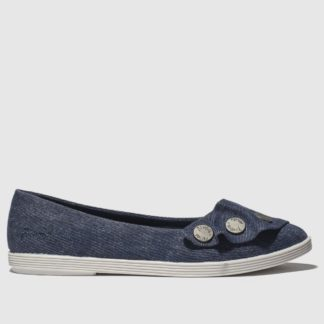 Blowfish Blue Galena Vegan Flat Shoes
