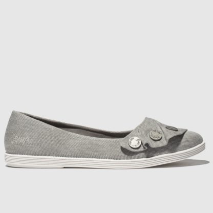 Blowfish Grey Galena Vegan Flat Shoes