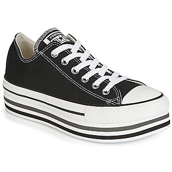 Converse CHUCK TAYLOR ALL STAR PLATFORM EVA LAYER CANVAS OX women's Shoes (Trainers) in Black
