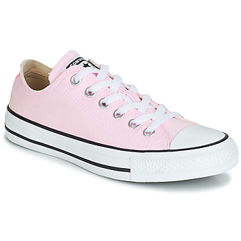 Converse CHUCK TAYLOR ALL STAR SEASONAL CANVAS OX women's Shoes (Trainers) in Pink