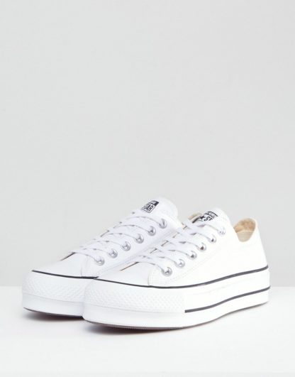 Converse Chuck Taylor All Star Platform Ox Trainers In White